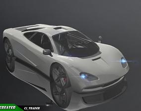 Lowpoly McLaren Super Racing Car 3d model game-ready
