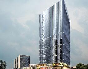 Skyscraper Business Center flat 3D