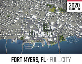 Fort Myers - city and surroundings 3D model