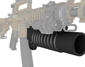 M203 Grenade Launcher 3D printable model