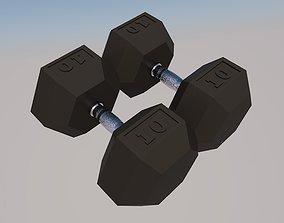 The pair of dumbbells 10kg 3D asset