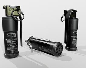 3D model CTS 7290ML Mini Flash Bang Grenade