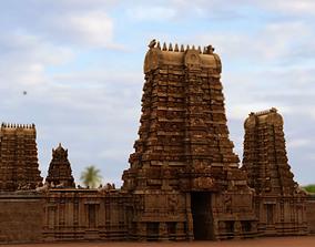 hindu temple 3d model statue