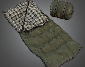 3D asset CAM - Sleeping Bag 01 - PBR Game Ready