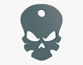 Death head keychain 3D print model