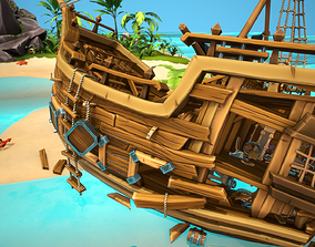 Pirates Story 3D model game-ready