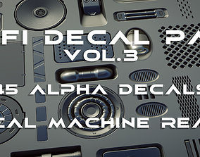 45 plus 1 Scifi Alpha Decal panel pack vol 3 3D