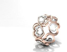 3D print model Double Heart Ring