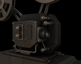 film movie projector 3d model