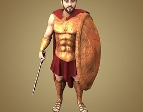 Spartan Hoplite 3D model animated