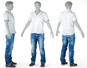 3D model Male Casual Outfit 52 Shirt Pants Shoes