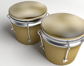 3D model membrane Bongo Drum