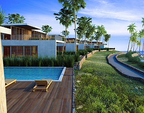 Villas on the hill 3D