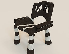 Stylish mad chair 3D