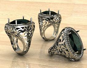 alexandrit ring 3D printable model