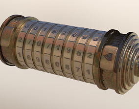 3D asset Cryptex - 9 Ring Numerical