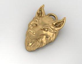 Wolf pendant rottweiler 3D printable model