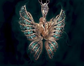 Pendant Magerit butterfly 3D print model