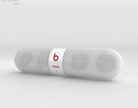 Beats Pill 2-0 Wireless Speaker White 3D
