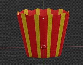 3D Model French Fries or Popcorn Package