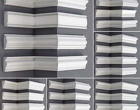 Collection of linear moldings - 24 pieces 3D