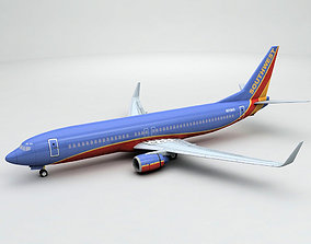 Boeing 737-800 NG Airliner - Southwest Airlines 3D asset