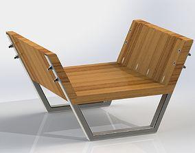 Minimalist Chair SENSEI 3D model
