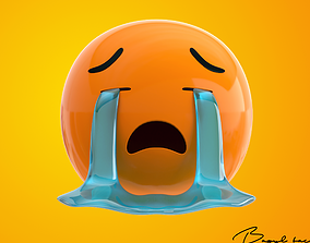 3D model Emoji Loudly Crying Face