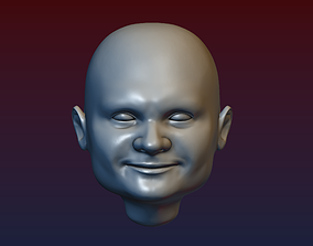Man Head 5 - Bald Head 3D print model
