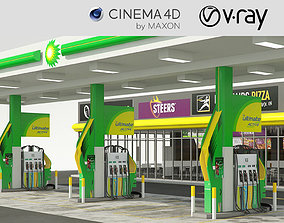 VRay - C4D Scene - BP GARAGE and SHOP 3D model