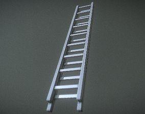 3D asset Lowpoly Metal Ladder