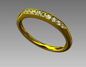 3D printable model ring marriage for man and woman
