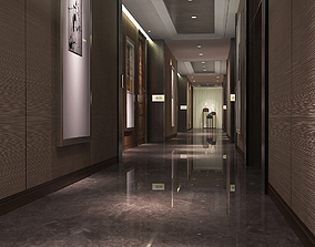 3D model Modern Luxury Hotel Corridor Design