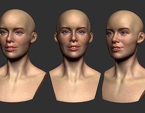 Female head 3d print girl