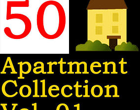 3D model Apartment Collection Vol 01