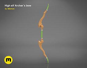 3D printable model High elf Archer bow and dagger goblin