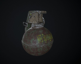 3D asset M68 Grenade Low poly Photorealistic