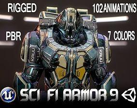 3D model Sci-Fi Armor 9