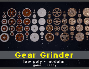 3D model Gear Grinder Asset Pack