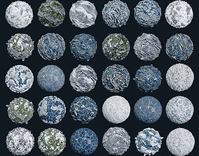 30 Snow Ice Ground Seamless PBR Texture Pack 3D