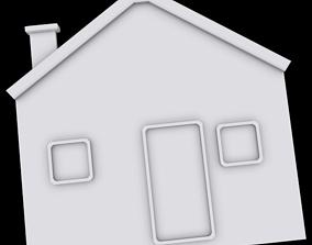 Ornament house architectural 3D print model