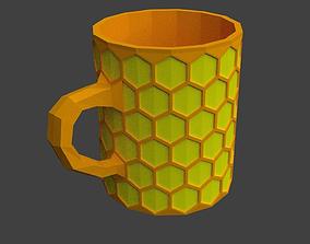 3D print model Honeycomb mug