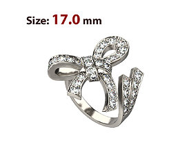 N027 Ribbon ring 3D printable model