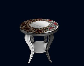 Round side coffee table 1 3D