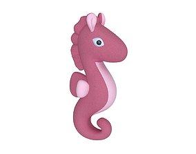 Seahorse plushie toy 3D model