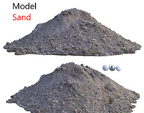 3D asset low-poly Ultra realistic Sand Scan