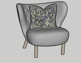 Little Petra Lounge Chair by AndTradition 3D