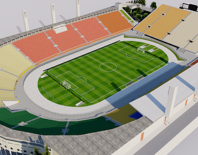 3D model Pacaembu Stadium - Brazil