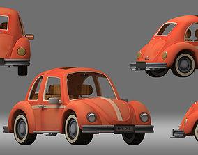 3D model cartoon car vehicle sedan