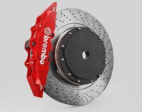 tire Brembo brake disc 3d model